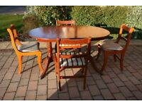 Regency Style Extending Dining Table with 4 Chairs