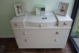 Hand-painted Vintage Dressing Table