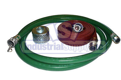 "3/"" x 20/' Green PVC Mud Suction Hose Trash Pump FS"