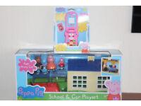 NEW PEPPA PIG TOYS - Phone, School & Family Car RRP. £34