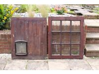 Kitchen Stable Door complete with large cat/dog flap.