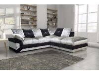 ✠✠ Stylish Dino Corner diamond crushed velvet Sofa / Jumbo cord / 3 + 2 Seater Sofa ✠✠