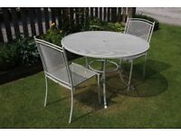 KETTLER PATIO TABLE AND CHAIRS