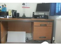 Office Desk with lockable drawers. FREE!