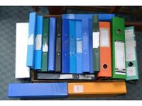 Selection of used A4 ring binders and lever arch files