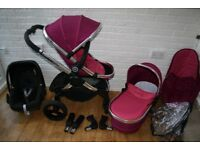 iCandy Peach 3 pink Fuchsia pram travel system 3 in 1 CAN POST