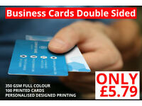 Ow! 100 Printed Business Cards Only £5.79!!!!