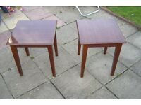 A Pair of matching Side Tables
