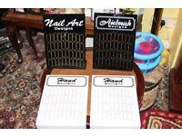 4 Nail tip Boards for dispaying Nail Art