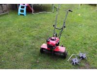 Honda FG201 Garden Tiller + Lawncare kit, aerator, border edges and de-thatcher