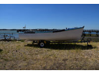 16' heavy build grp fishing boat / work boat & trailer