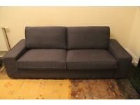 Large Dark Blue Sofa - **LOCAL DELIVERY**