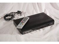 Hitachi Freeview box with HDMI output and remote control