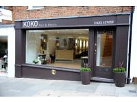 KOKO Hair is recruiting for talented Stylists to join our outstanding team full time. Earn upto 32k