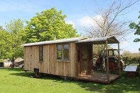 Shepherds Hut, Bow Top Cabin, Glamping, Studio, Log Cabin, 20ft long, £12,000