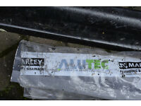 Quantity of steel and cast guttering/drainage sections. Some Marley Alutec