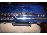 Gemeinhardt M2 flute with solid silver headpiece