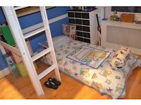 Bunk bed and futon