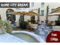 Luxury Rome City Break from £149 pp