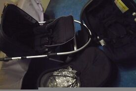 Baby pram wheels with carry cot, push chair,and car seat