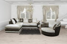 ** 1 YEAR WARRANTY ** BRAND NEW MAX DIAMOND CORNER SOFA OR 3+2 ON SPECIAL OFFER