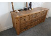 Hand made solid wood chest of drawers