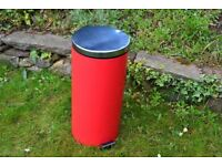 Red kitchen pedal bin