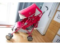 MACLAREN Techno XT Persian Rose Red Pushchair/Stroller + Newborn Pack + Rain & Handles Cover for sale  Abingdon, Oxfordshire