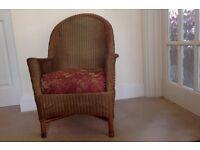 Lloyd Loom style vintage arm chair