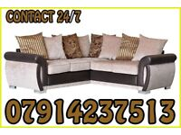 THIS WEEK SPECIAL OFFER SOFA BRAND NEW BLACK & GREY OR BROWN & BEIGE HELIX SOFA SET 6586