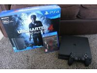 PS4 500GB Slim + 1 game + 1 controller (4 months old)