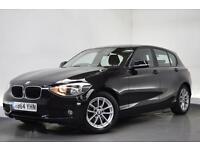 BMW 1 SERIES 1.6 116D EFFICIENTDYNAMICS BUSINESS [SAT NAV/LEATH (black) 2015