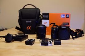 Sony A65 DSLR with 18-55mm lens plus extras all in excellent condition