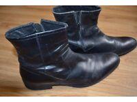 lather black shoes size 10 UK / EU 44 LASOCKI