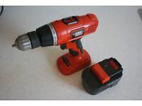 Black and Decker 14.4v cordless hammer drill 2 speed