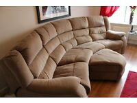 four seater sofa with electric recliners and pooffi for sale