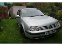 VW Golf SE 1.6 2002 petrol, manual, good runner, Service History, reliable