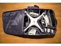 DJI Phantom 4 & Accessories - 3 Batteries, Case, Filters, Hood, Car Charger