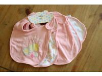 10 baby girl bibs F&F Tesco & Frenchie Couture: still with tags
