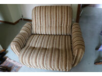 Retro 1970's Armchair and fold out bed free to collect