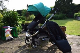 iCandy Apple 2 Pear Single Clover Pushchair with Carrycot and raincover