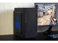CSGO Gaming BLUE LED PC Computer Intel Quad Core Nvidia GTX Graphics Win 10 Home