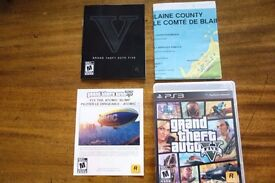 GTA V / 5 for PS3 - BOXED With manual, map and unused blimp code