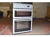 HOTPOINT DUEL FUEL COOKER GRAPHITE 60CM. EXCELLENT CONDITION HARDLY USED DUE TO HOUSE MOVE
