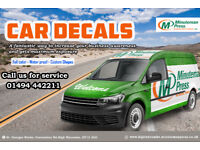 Catch the eye of customers with personalised-----Car Decals