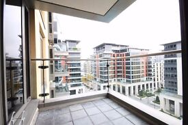 Three bedroom apartment with a private balcony in Imperial Wharf riverside development, Fulham.