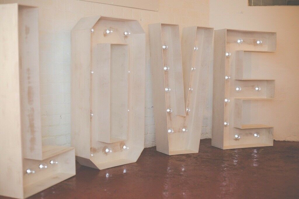 For Sale 4ft Led Love Letters Shabby Chic Wedding Decor In