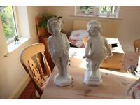 White Glazed Dutch Figurines
