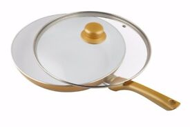 Professional Chef Gold Collection Ceramicore 24 cm Non-Stick Ceramic Sauté Pan with Lid.........New
