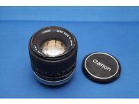 Canon FD 100mm f2.8 Prime Lens